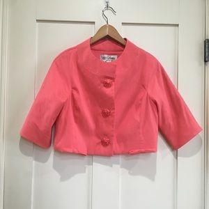 Sara Campbell Cropped Coral Jacket